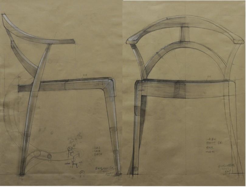 凳子透视图结构素描